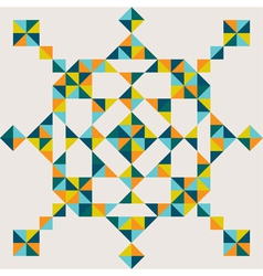 abstract triangle snowflake vector image vector image