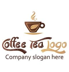 Coffee and tea logo design vector image vector image
