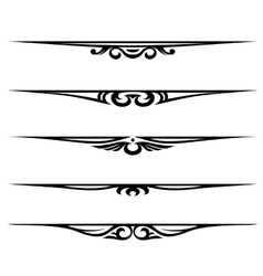 decorative elements border and page rules vector image vector image
