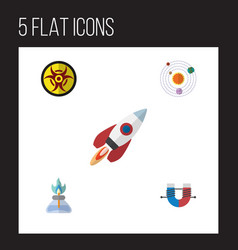 Flat icon study set of attractive force milky way vector