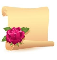 folded parchment vector image