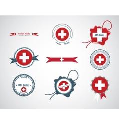 Made in switzerland - set of seals badges vector