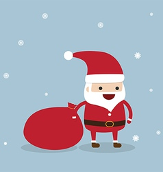Santa claus with snowflake vector image vector image