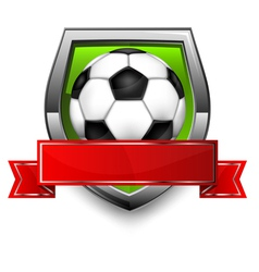 soccer ball Shield vector image vector image