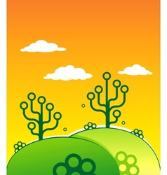 Two digital Trees vector image