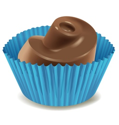 chocolates in blue cup vector image