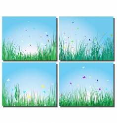 grass silhouettes set vector image vector image