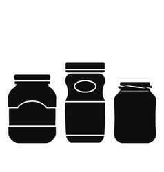 Jar Icons Set vector image