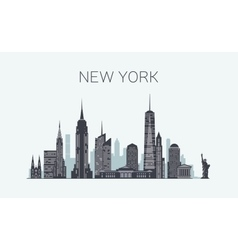 New York skyline silhouette vector image vector image
