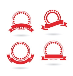ribbon badge set vector image
