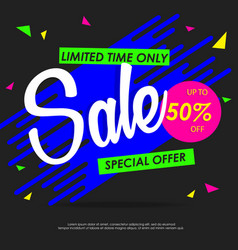 sale colorful banners design template vector image vector image