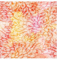 seamless floral grunge beige gradient pattern vector image vector image