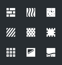 set of flooring icons vector image