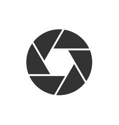 camera objective black icon vector image