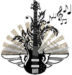 Electric guitar design vector