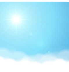 Sun and sky background vector image