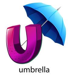 A letter u for umbrella vector