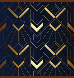 abstract art seamless blue and golden pattern 21 vector image