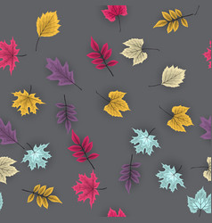 Abstract autumn seamless pattern background vector