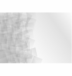 abstract gray light square background vector image