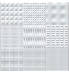 Abstract white and grey rectangle geometric bricks vector image