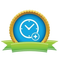 Add time round icon vector