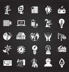 alternative energy set on white background vector image