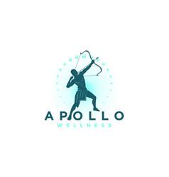 Apolo wellness logo design vector