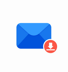 archieve download email mail icon vector image