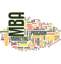 Are you a suitable mba candidate text background vector