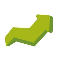 Arrow up increase green direction infographic icon vector