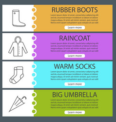 autumn clothes web banner templates set vector image
