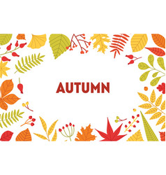 autumn horizontal background with frame made vector image
