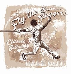 Baseball Flyball slugger vector