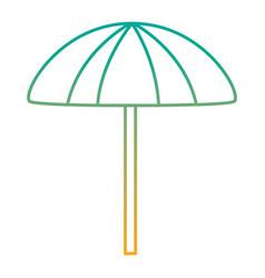 beach umbrella protection accessory symbol vector image