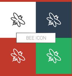 Bee icon white background vector