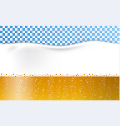 beer foam bubbles concept background realistic vector image
