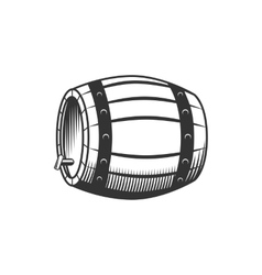 Beer wine barrel vector image