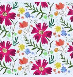 bright colorful floral summer pattern vector image