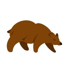 Brown bear icon flat style vector image