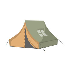 campsite tent isolated icon vector image