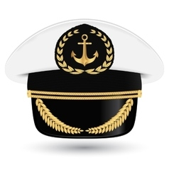 Captain peaked cap with cockade vector