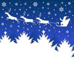 christmas sleig vector image