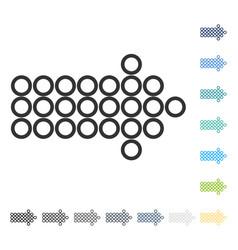 circle arrow right icon vector image