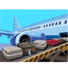 Civilian aircraft and baggage vector