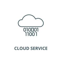 cloud servicedigits zero onebinary code line vector image