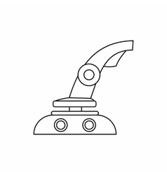 Computer video game joystick icon outline style vector image