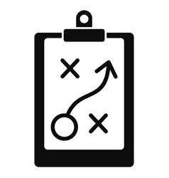 Decision strategy icon simple style vector