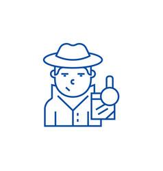 detective line icon concept detective flat vector image