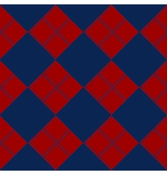 Diamond Chessboard Red Navy Blue Background vector